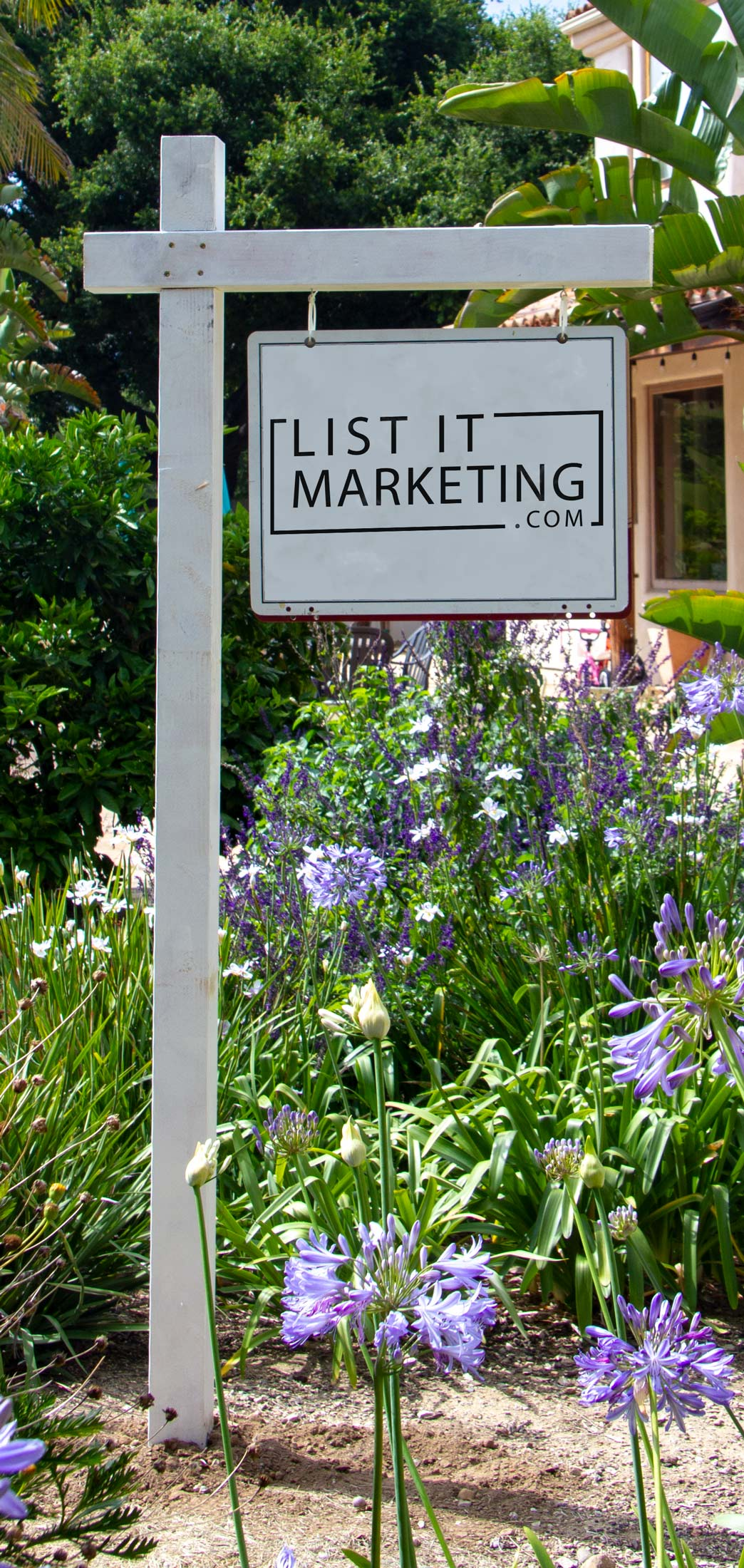 real estate sign post installation santa barbara