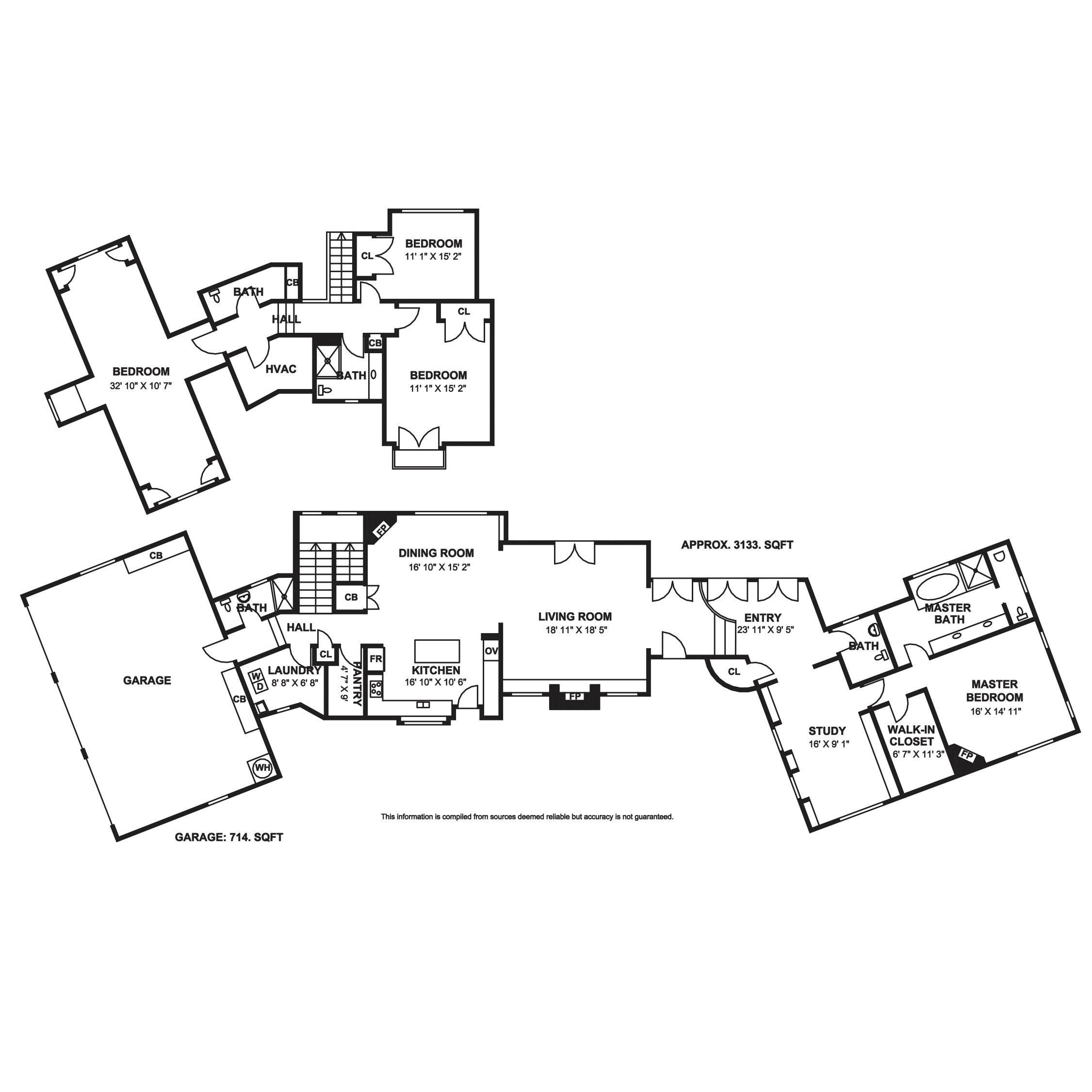 floor plan for santa ynez real estate listing