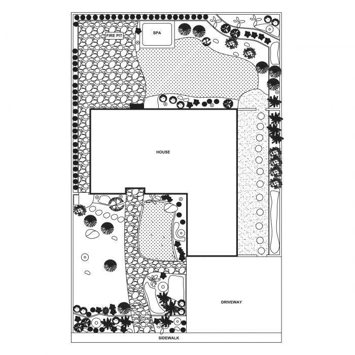 landscape plan floor plan santa barbara
